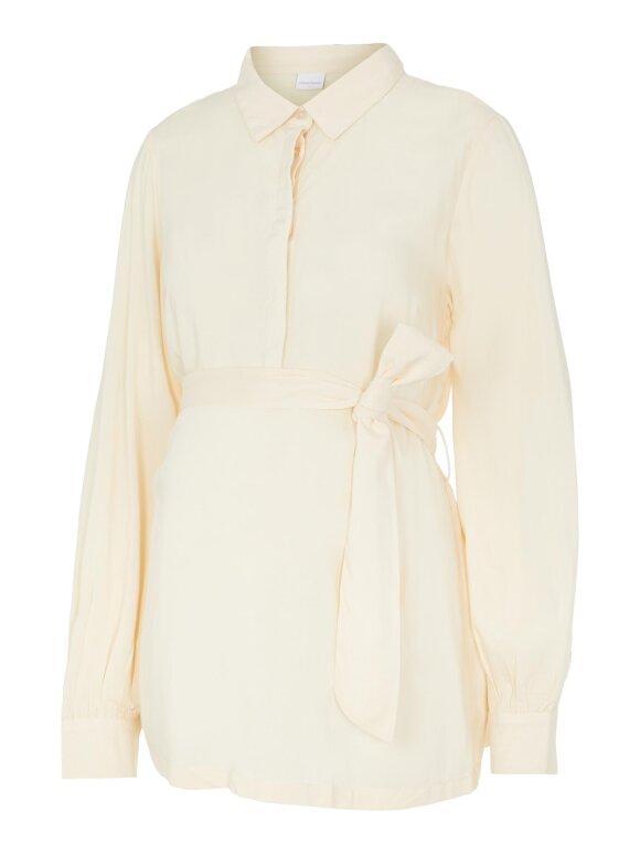 Mamalicious - Inus lia woven shirt - ecru