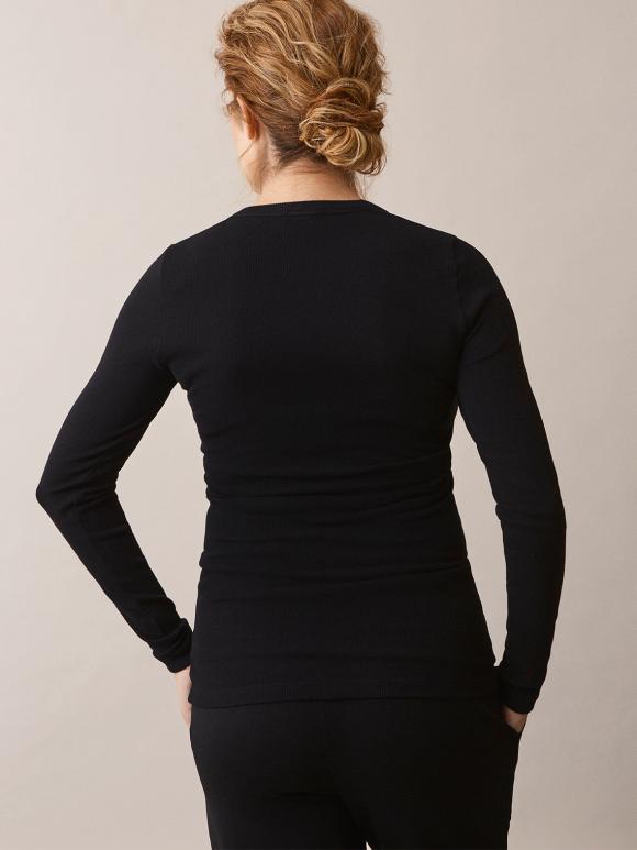 Boob - Signe long-sleeved top - black