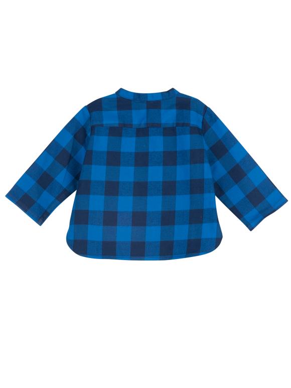 Bonton - Matt blåternet skjorte