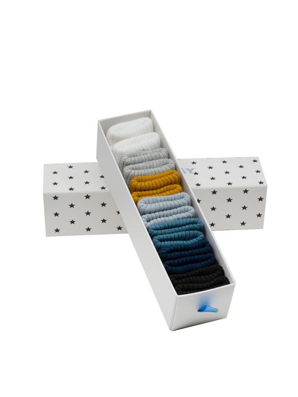 Bonton - Æske med 6 par sokker - 2 farvevarianter