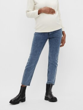 Mamalicious - Town cropped regular jeans - blue