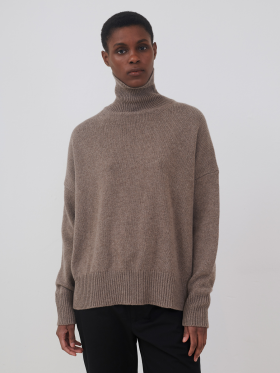 Skall Studio - Dello cashmere t-neck - brown