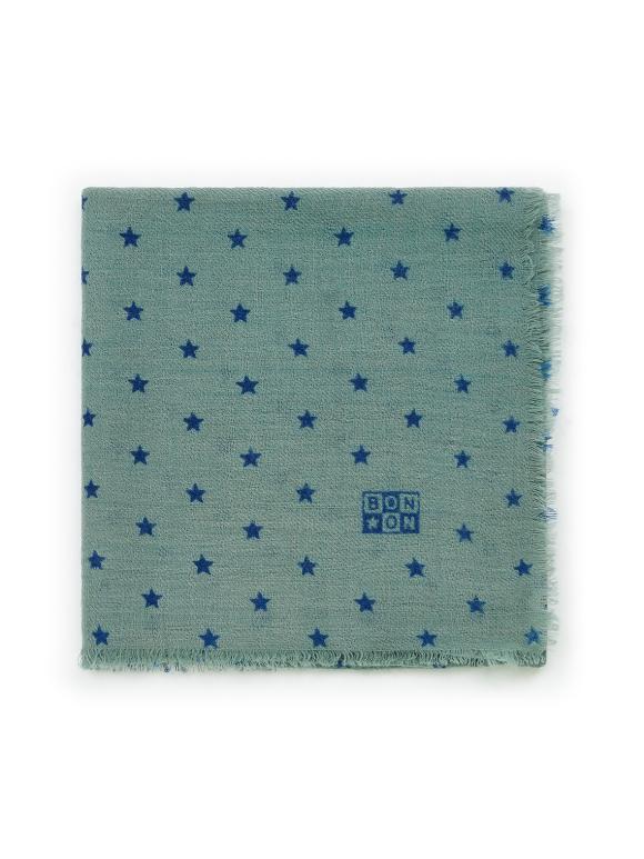 Bonton - Tørklæde i uld - stjerner