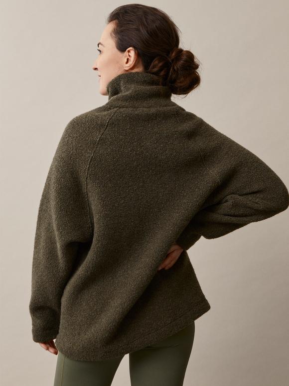 Boob - Wool pile sweater - pine green