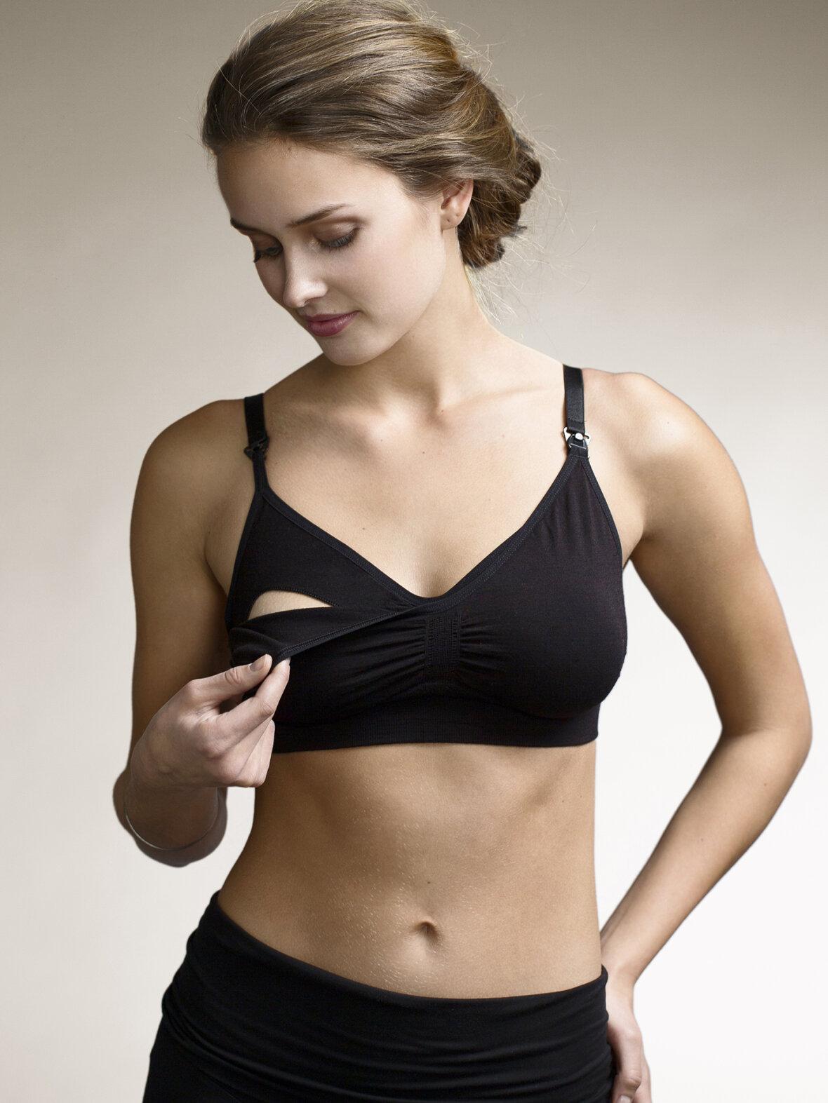 fbc345ec Enula9 - Gravid lingerie & badetøj - Boob - amme bh wool, sort