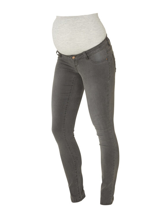 Mamalicious - Gravid jeans, skinny grey ella 6842