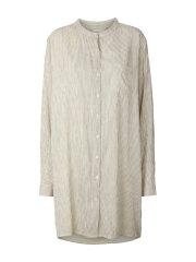 Lollys Laundry - Lenora lang skjorte creme stribet