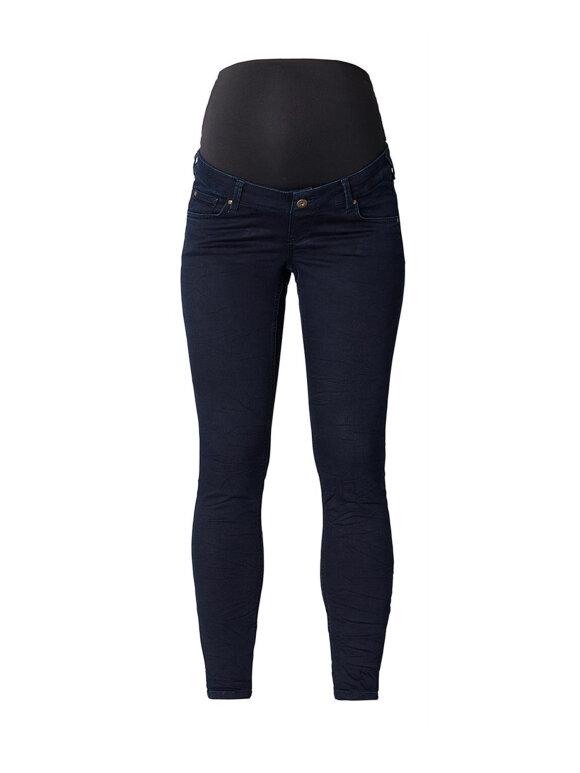 Queen Mum - Gravid jeans, smal 84.3507/361 plain darkblue
